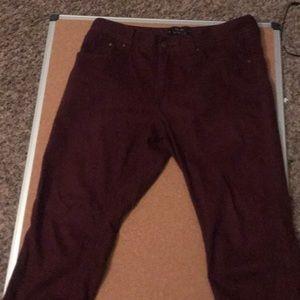 Forever 21 Men Burgandy Pants